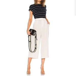 Vince High Waisted Sandstone Cream Culottes Wide